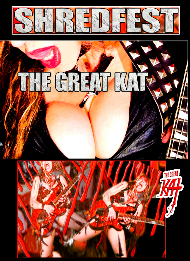 NEW �SHREDFEST� by THE GREAT KAT! �Shredfest� is a Shredderrific mix of ShredClassical guitar/violin NeoClassical virtuosity on �The Flight Of The Bumble-Bee�, Paganini�s �Caprice #24�, Paganini�s �Moto Perpetuo� and Sarasate�s �Carmen Fantasy� in a brilliant high-speed shredfest by The High Priestess Of Guitar Shred, The Great Kat!!