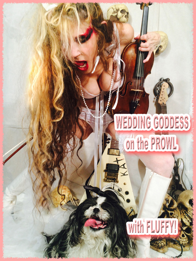 WEDDING GODDESS ON THE PROWL with FLUFFY!
