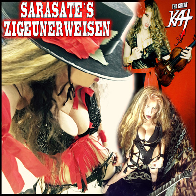 """NEW! iTUNES PREMIERES THE GREAT KAT'S VIRTUOSO SINGLE SARASATE'S """"ZIGEUNERWEISEN"""" for SHRED GUITAR & GYPSY VIOLIN! LISTEN NOW at https://itunes.apple.com/us/album/sarasates-zigeunerweisen-single/1356642515"""