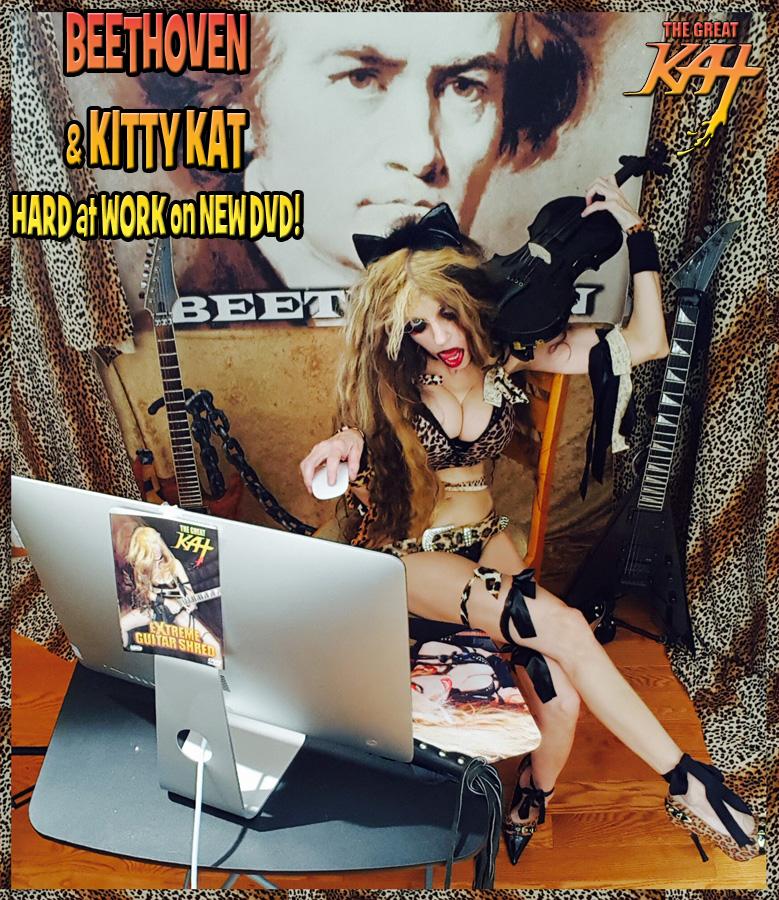 BEETHOVEN & KITTY KAT HARD at WORK on NEW DVD!