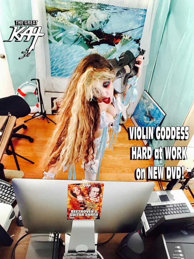 VIOLIN GODDESS HARD at WORK on NEW DVD!