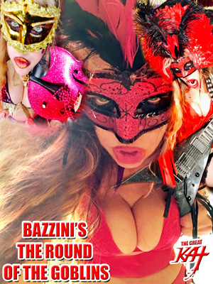 "AMAZON PREMIERES THE GREAT KAT'S NEW MARDI GRAS MUSIC VIDEO: BAZZINI'S ""THE ROUND OF THE GOBLINS""! LET THE GOOD TIMES ROLL!! World Premiere Free on Amazon Prime at https://www.amazon.com/dp/B01N382ZYX/  Starring The Great Kat & MARDI GRAS & Hot CARNIVAL Madness! GREAT KAT'S High-Speed Blistering CLASSICAL VIOLIN (Juilliard grad Carnegie Recital Hall Soloist) & SHRED GUITAR (""Top 10 Fastest Shredders Of All Time""!) FAT TUESDAY Debauchery!  Bead-Throwing, Kat Krewe, King Cakes, Masks, All-Male Mardi Gras Band & More! From Upcoming DVD! WATCH Free on Amazon Prime: https://www.amazon.com/dp/B01N382ZYX/"