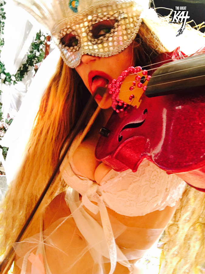 """SEXY BRIDE FIDDLING! from BAZZINI'S """"THE ROUND OF THE GOBLINS"""" NEW GREAT KAT MUSIC VIDEO!"""