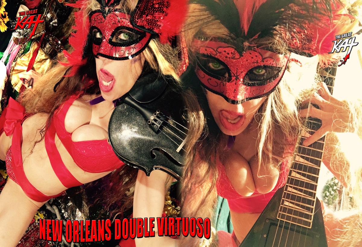 """NEW ORLEANS DOUBLE VIRTUOSO!  from BAZZINI'S """"THE ROUND OF THE GOBLINS"""" NEW GREAT KAT MUSIC VIDEO!"""