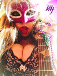 "HOT SHREDDING MARDI GRAS GODDESS! From The Great Kat's MARDI GRAS MUSIC VIDEO BAZZINI'S THE ROUND OF THE GOBLINS""!"