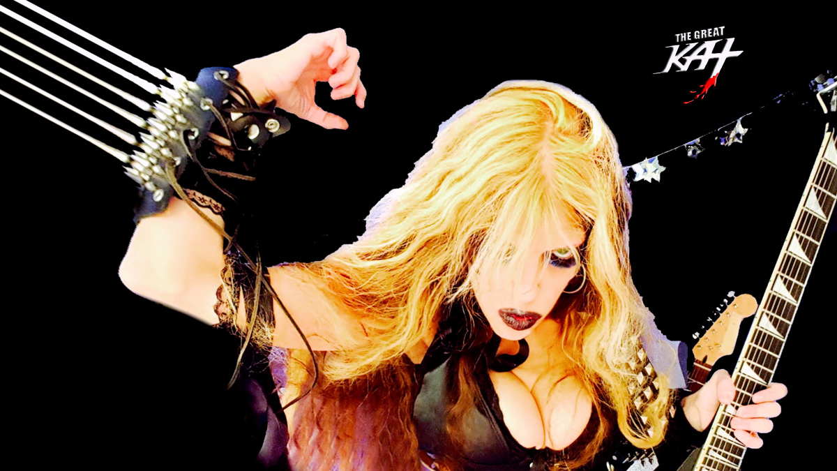 """THE METAL QUEEN! From THE GREAT KAT'S BAZZINI'S """"THE ROUND OF THE GOBLINS"""" MUSIC VIDEO!!!"""