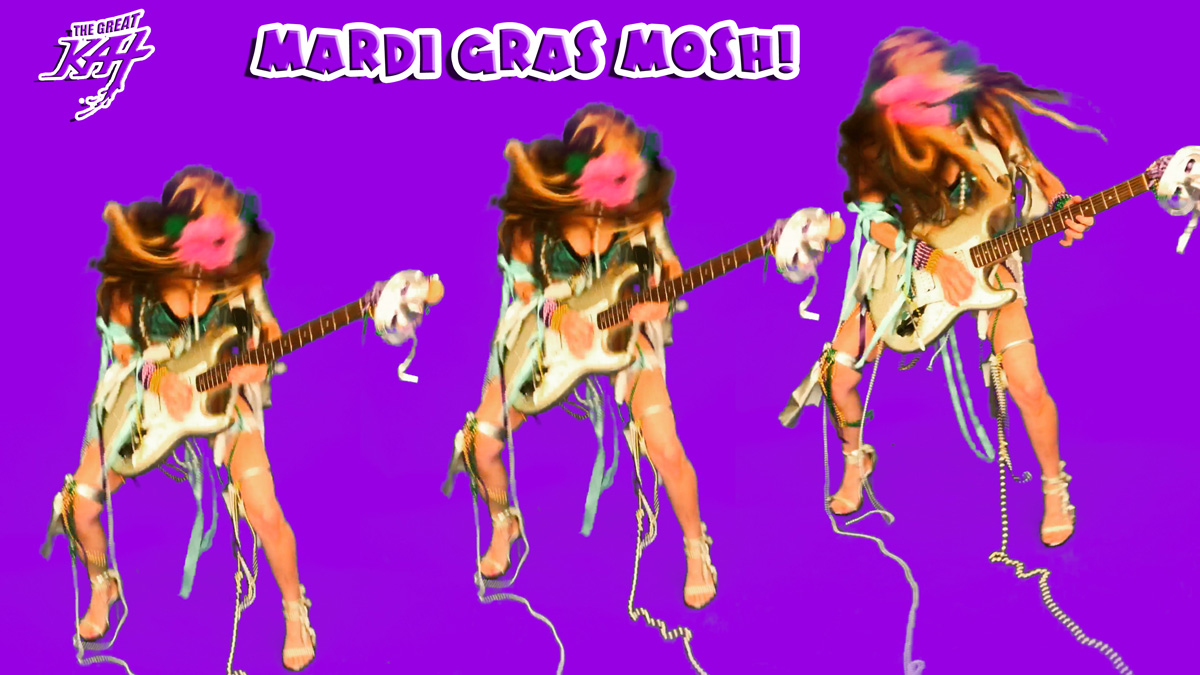 "MARDI GRAS MOSH! From THE GREAT KAT'S BAZZINI'S ""THE ROUND OF THE GOBLINS"" MUSIC VIDEO!!!"