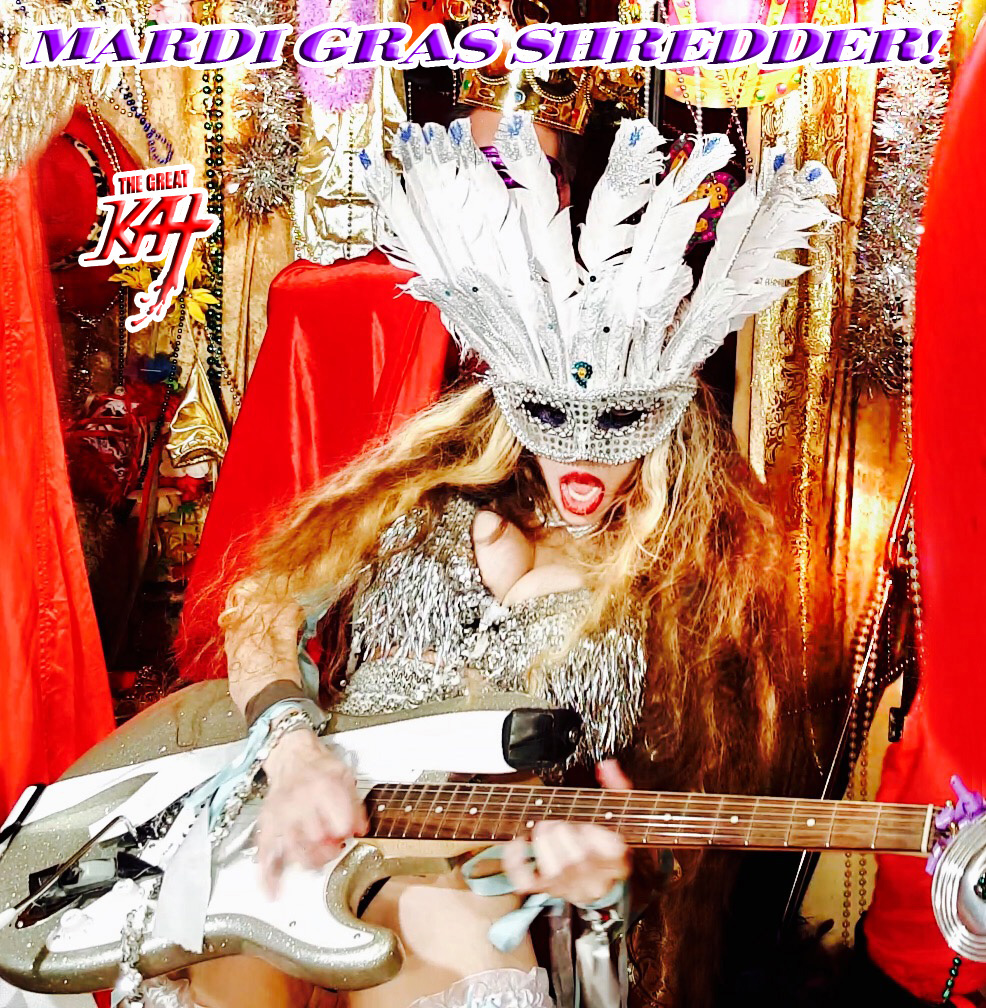 """MARDI GRAS SHREDDER!! from BAZZINI'S """"THE ROUND OF THE GOBLINS"""" NEW GREAT KAT MUSIC VIDEO!"""