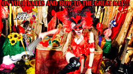 "ON YOUR KNEES AND BOW TO THE GREAT KAT!! from BAZZINI'S ""THE ROUND OF THE GOBLINS"" NEW GREAT KAT MUSIC VIDEO!"