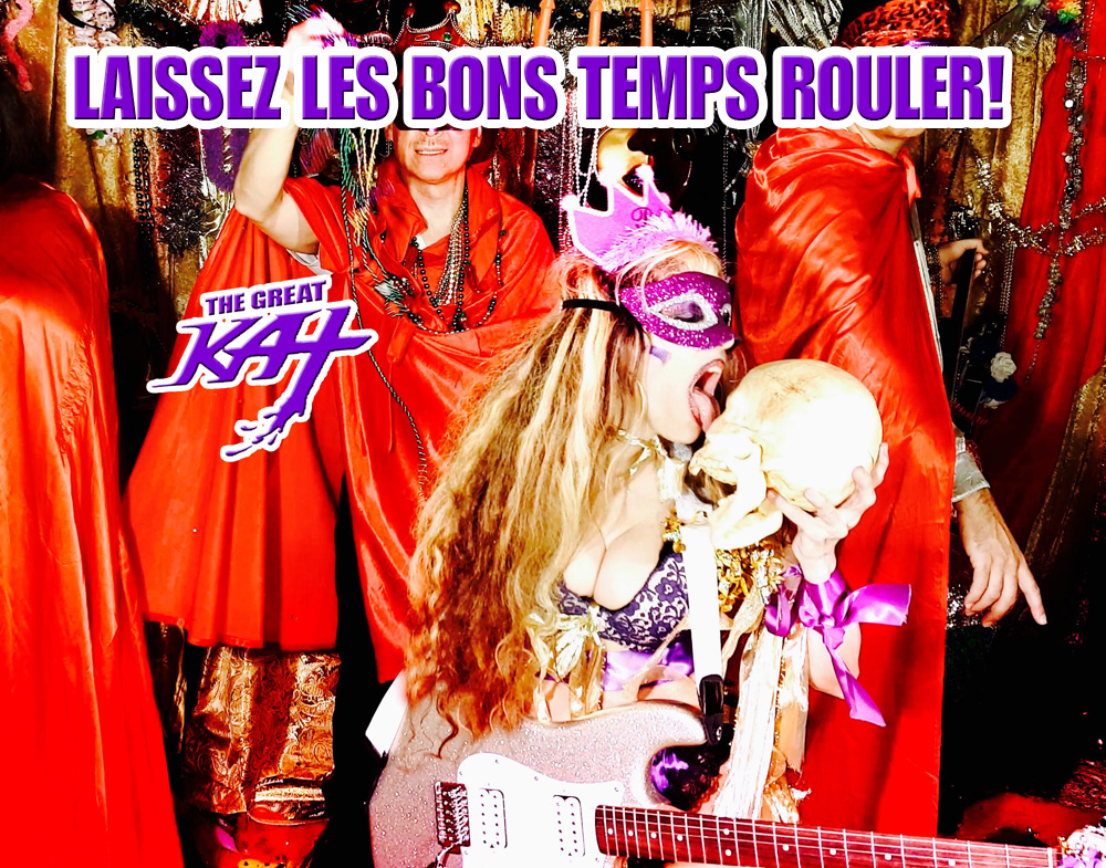 "LAISSEZ LES BONS TEMPS ROULER! from BAZZINI'S ""THE ROUND OF THE GOBLINS"" NEW GREAT KAT MUSIC VIDEO! SNEAK PEEK from NEW DVD!"