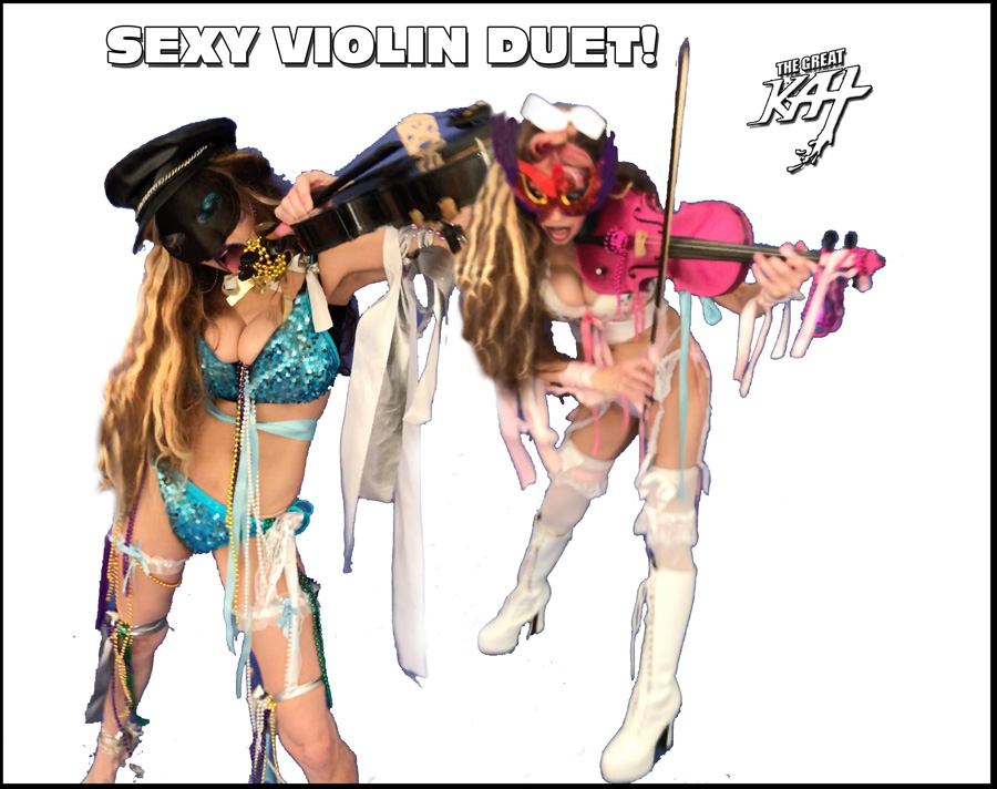 """SEXY VIOLIN DUET!! from BAZZINI'S """"THE ROUND OF THE GOBLINS"""" NEW GREAT KAT MUSIC VIDEO!"""