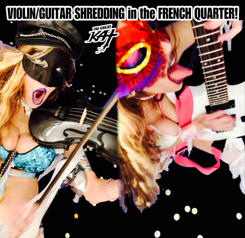 "VIOLIN/GUITAR SHREDDING in the FRENCH QUARTER!! from BAZZINI'S ""THE ROUND OF THE GOBLINS"" NEW GREAT KAT MUSIC VIDEO!"