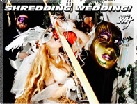 "SHREDDING WEDDING! from BAZZINI'S ""THE ROUND OF THE GOBLINS"" NEW GREAT KAT MUSIC VIDEO!"