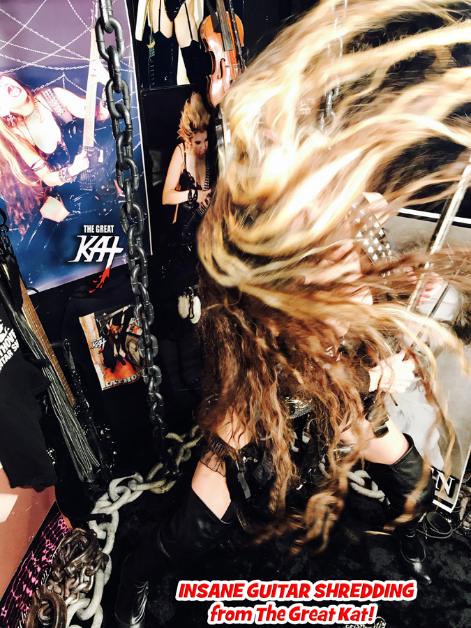 INSANE GUITAR SHREDDING from The Great Kat!! NEW GREAT KAT DVD PHOTO!