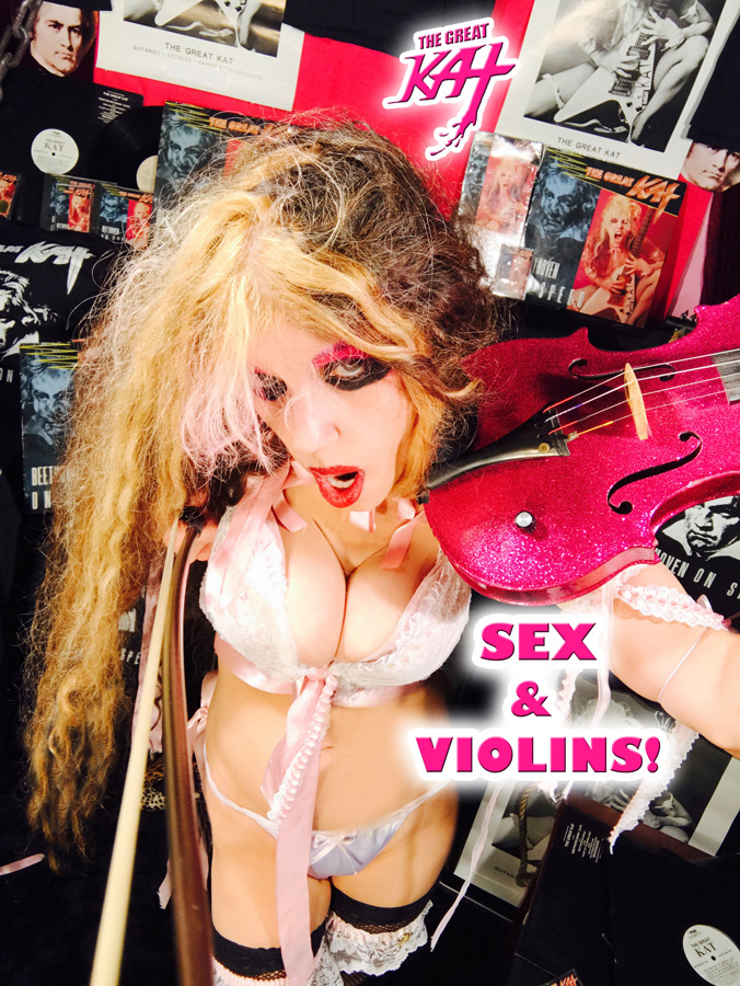 SEX & VIOLINS! NEW GREAT KAT CD PHOTO!