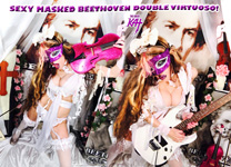 SEXY MASKED BEETHOVEN DOUBLE VIRTUOSO!! NEW GREAT KAT DVD PHOTO!