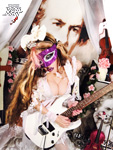 SEXY MASKED BEETHOVEN GUITAR VIRTUOSO!! NEW GREAT KAT DVD PHOTO!