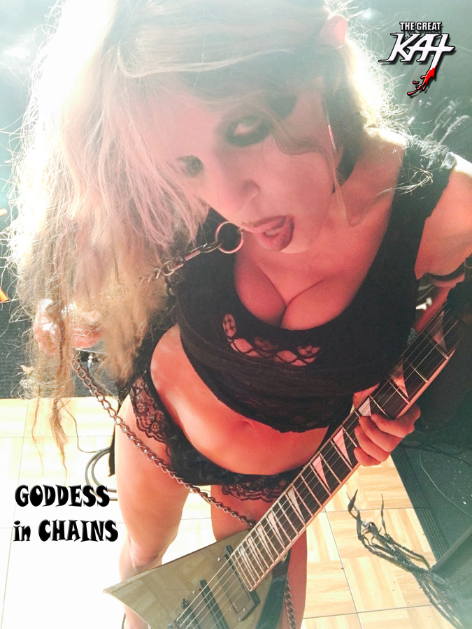 "GODDESS IN CHAINS! The Great Kat SHREDS SARASATE'S ""CARMEN FANTASY"""