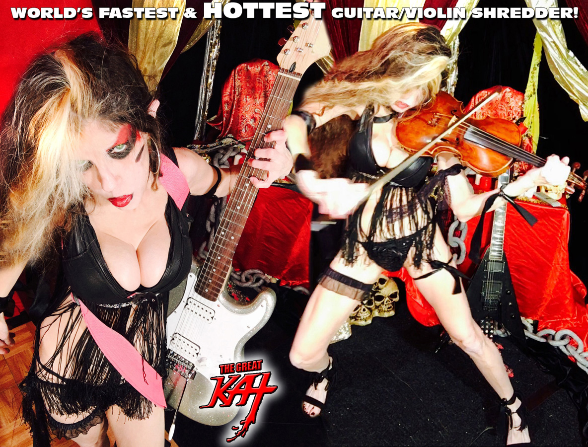 "WORLD'S FASTEST & HOTTEST GUITAR/VIOLIN SHREDDER! THE GREAT KAT SHREDS SARASATE'S ""CARMEN FANTASY""!  THE GREAT KAT SHREDS SARASATE'S ""CARMEN FANTASY"""
