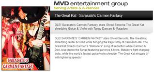 "MVD ENTERTAINMENT GROUP PRESENTS: THE GREAT KAT'S SARASATE'S ""CARMEN FANTASY"""