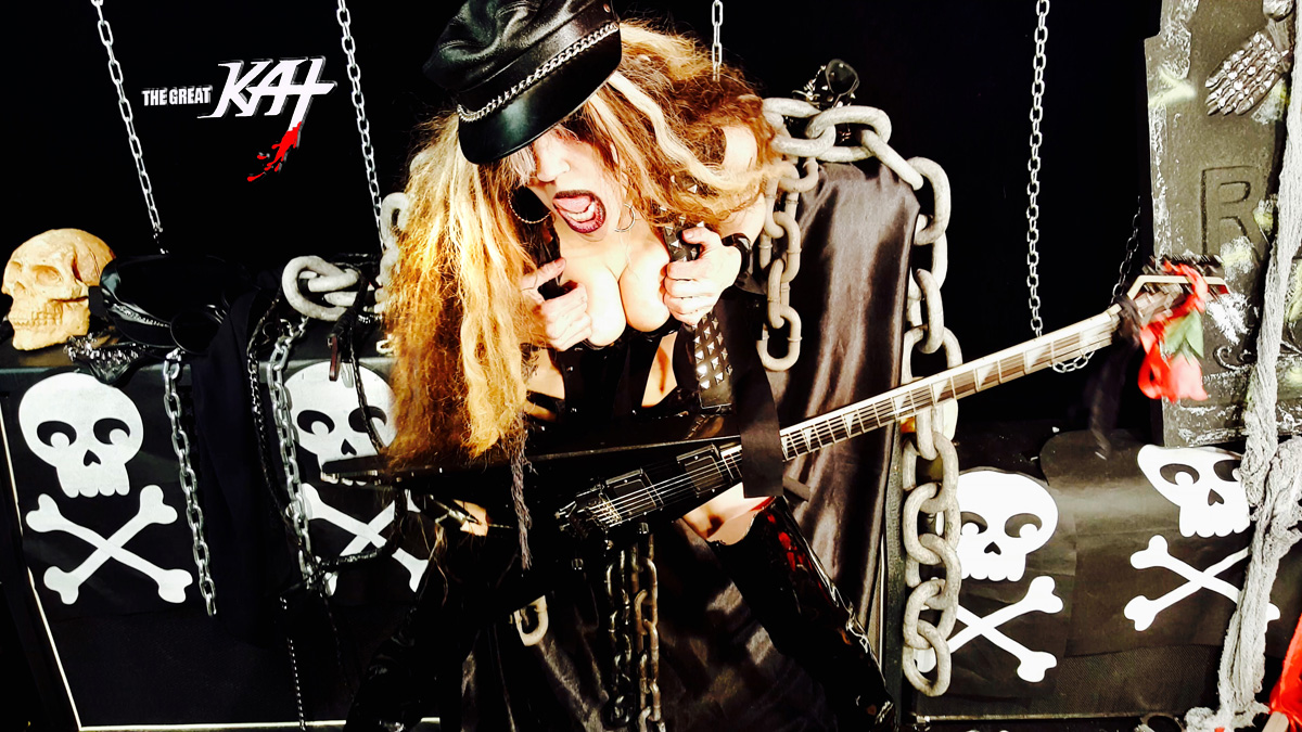 """HEAVY METAL MISTRESS! From The Great Kat's SARASATE'S """"CARMEN FANTASY"""" MUSIC VIDEO!"""