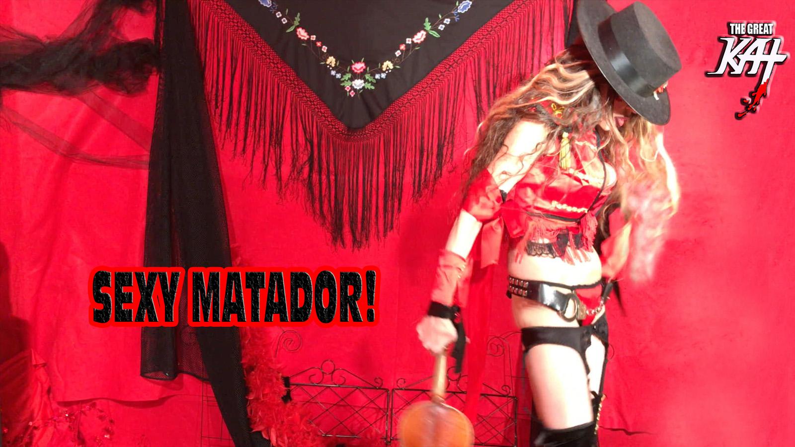 "SEXY MATADOR!! From The Great Kat's SARASATE'S ""CARMEN FANTASY"" MUSIC VIDEO!"