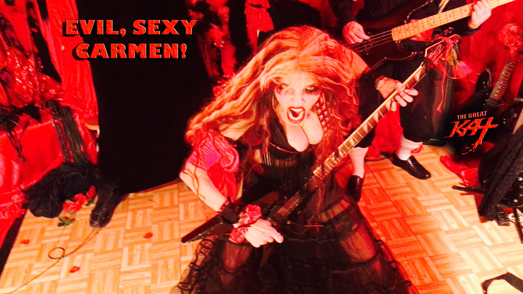 "EVIL, SEXY CARMEN!! From The Great Kat's SARASATE'S ""CARMEN FANTASY"" MUSIC VIDEO!"