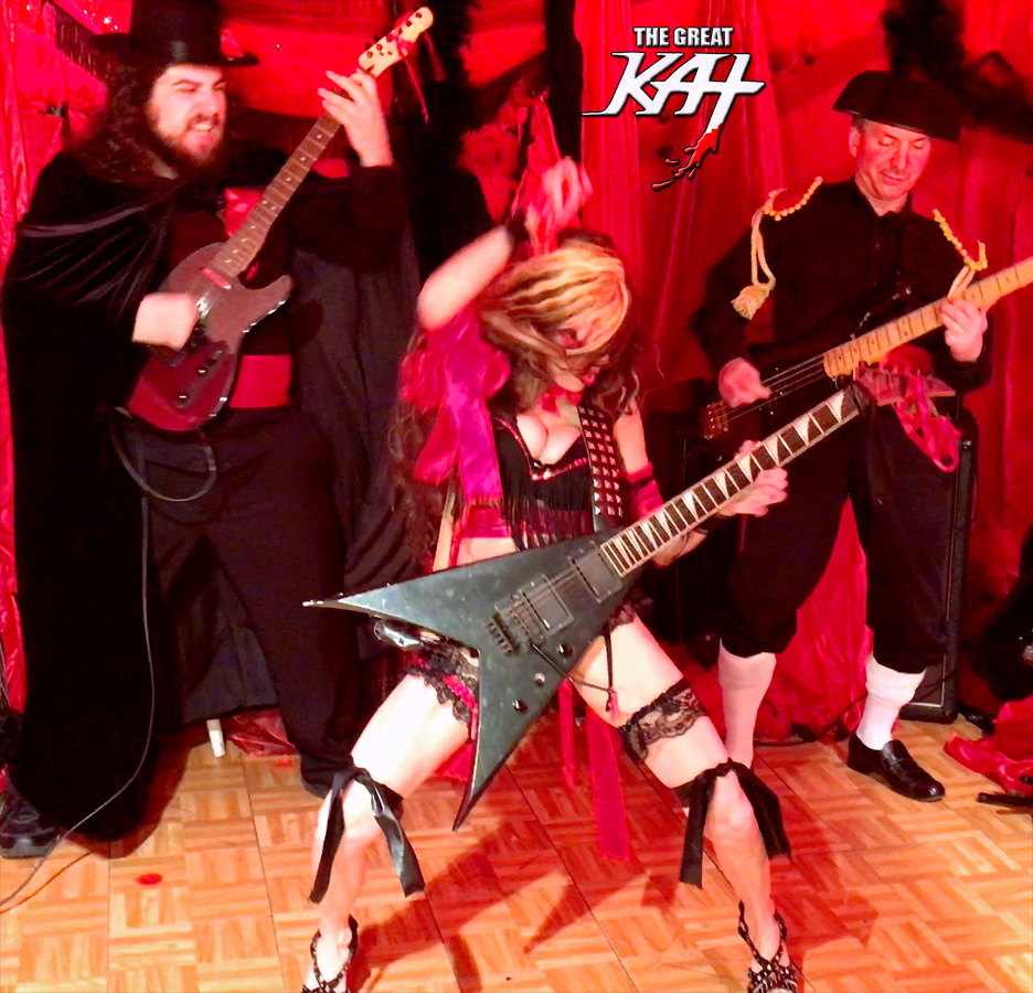 "CARMEN SHREDS with THE MATADORS! The Great Kat's SARASATE'S ""CARMEN FANTASY"" MUSIC VIDEO!"