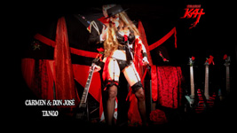 "Carmen & Don Jos� dance a VICIOUS TANGO! From The Great Kat's SARASATE'S ""CARMEN FANTASY"" MUSIC VIDEO!!"