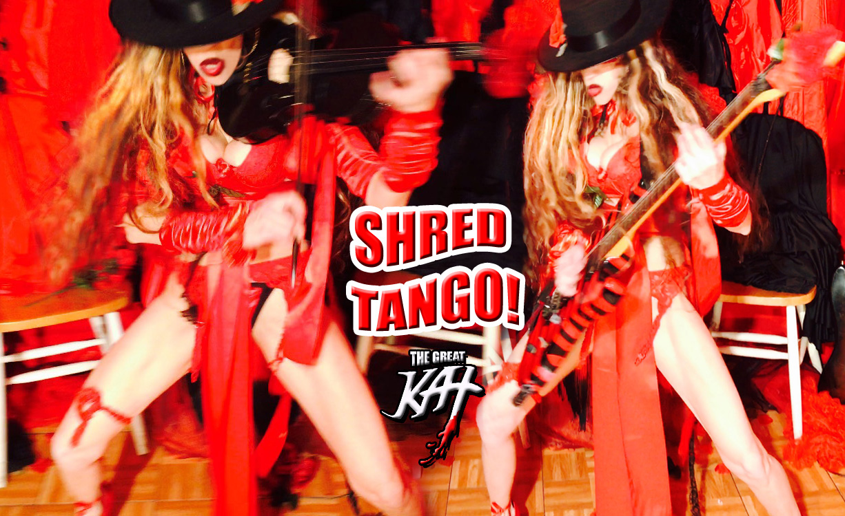 "SHRED TANGO! From The Great Kat's SARASATE'S ""CARMEN FANTASY"" MUSIC VIDEO!"