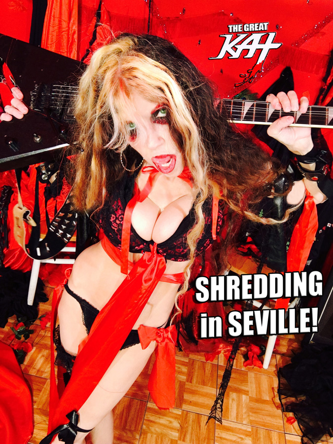 "SHREDDING in SEVILLE!! From The Great Kat's SARASATE'S ""CARMEN FANTASY"" MUSIC VIDEO!!"