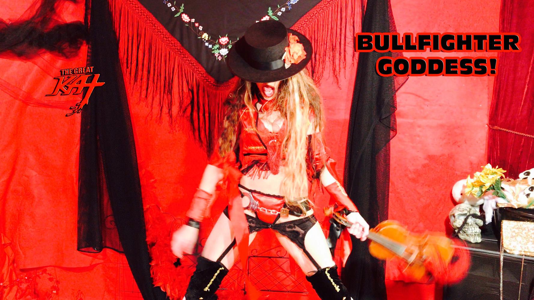 """BULLFIGHTER GODDESS!!! From The Great Kat's SARASATE'S """"CARMEN FANTASY"""" MUSIC VIDEO!"""