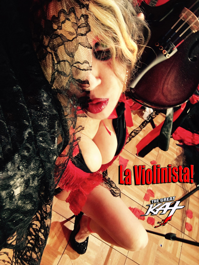 "La Violinista!! From The Great Kat's SARASATE'S ""CARMEN FANTASY"" MUSIC VIDEO!!"