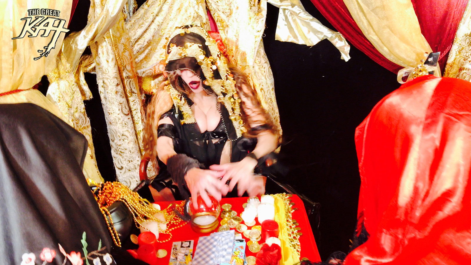 "MADAME KAT FORTUNE TELLER!! From The Great Kat's SARASATE'S ""CARMEN FANTASY"" MUSIC VIDEO!"