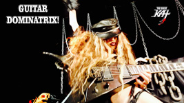 "GUITAR DOMINATRIX!! From The Great Kat's SARASATE'S ""CARMEN FANTASY"" MUSIC VIDEO!"