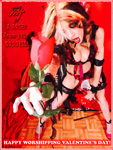 """A ROSE!!  From your  GODDESS! HAPPY WORSHIPPING VALENTINE'S DAY! THE GREAT KAT SHREDS SARASATE'S """"CARMEN FANTASY"""""""