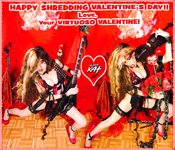 "HAPPY SHREDDING VALENTINE'S DAY!! Love, Your VIRTUOSO VALENTINE!  THE GREAT KAT SHREDS SARASATE'S ""CARMEN FANTASY"""
