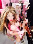 SWEET PINK VIOLINIST KAT!! NEW GREAT KAT CD PHOTO!