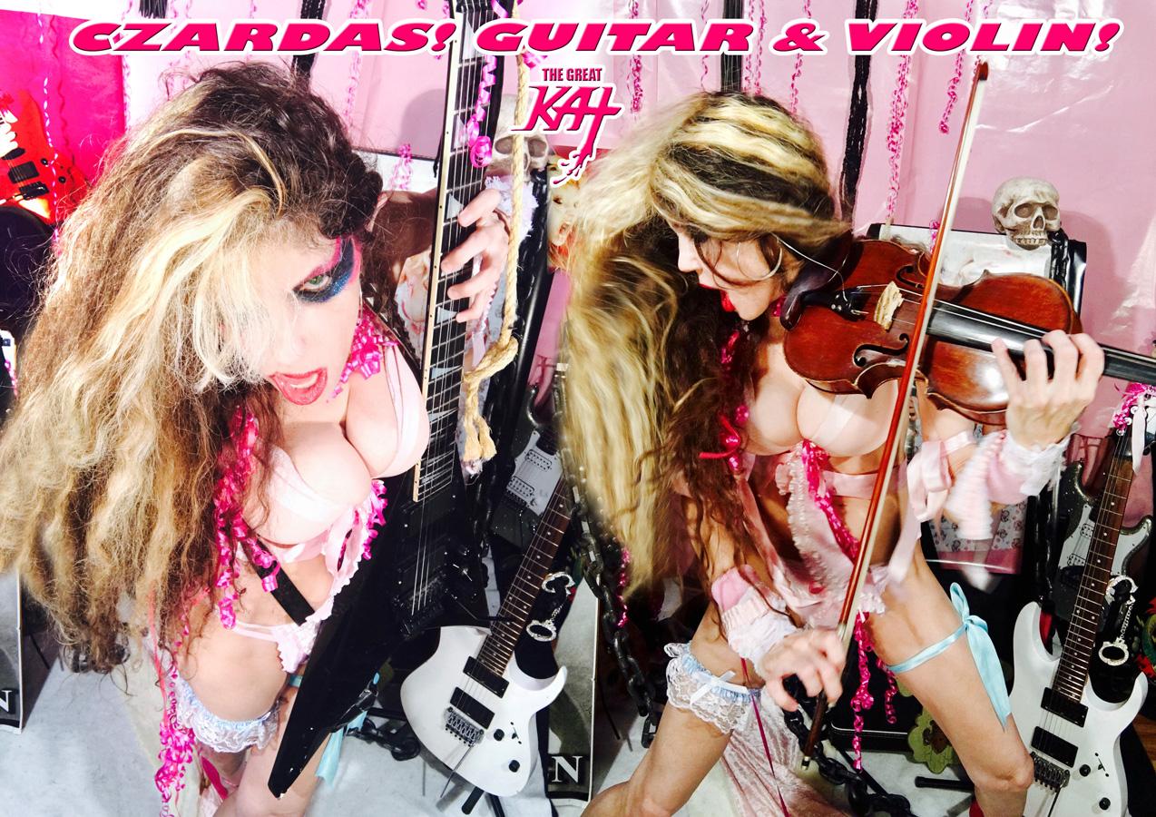 CZARDAS! GUITAR & VIOLIN! NEW GREAT KAT CD PHOTO!