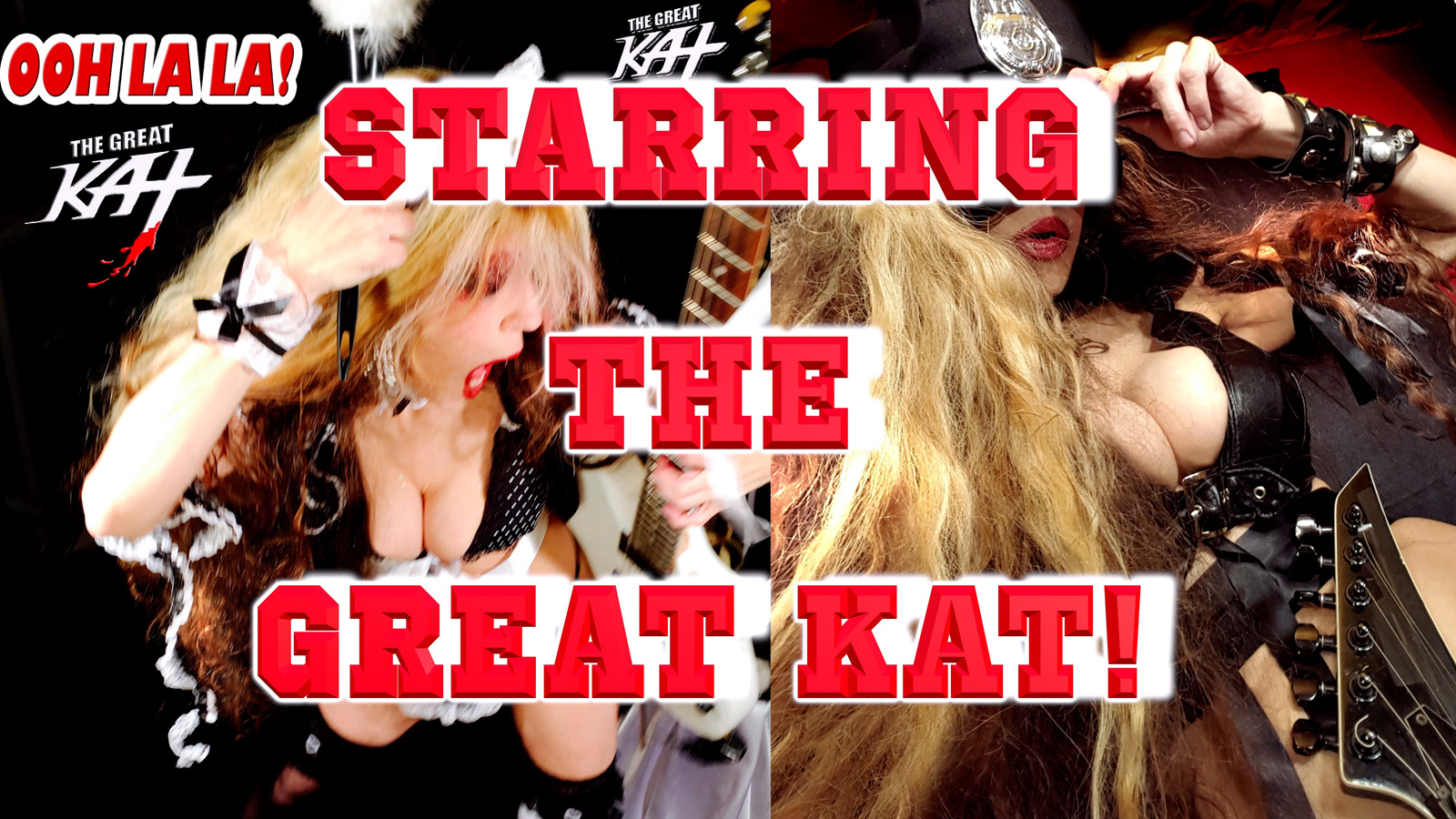 "THE GREAT KAT'S ""TOP 20 HOT SHRED HOLIDAYS! STARRING THE GREAT KAT"" From The Great Kat's NEW DVD!!!!"