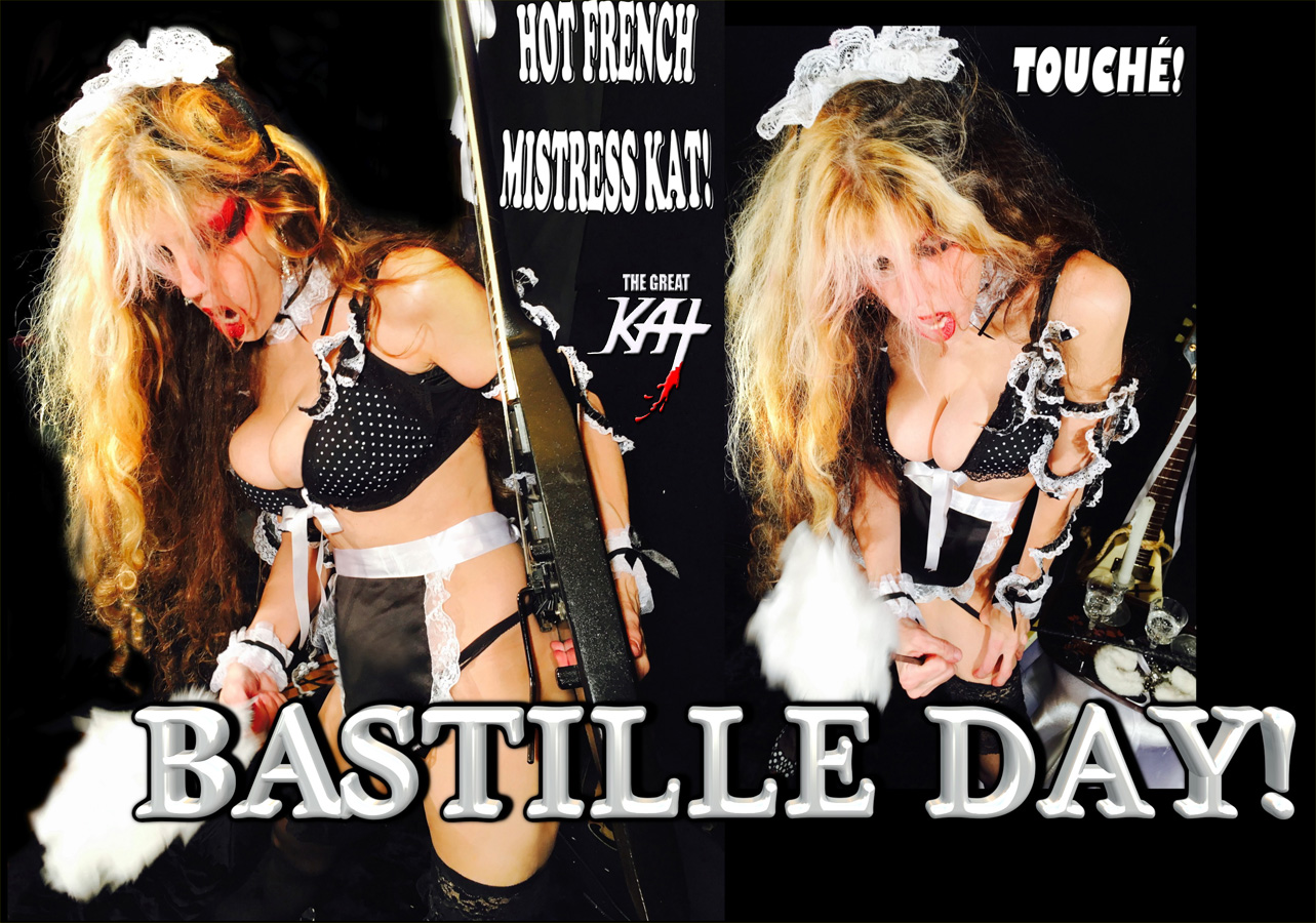 """TOP 20 HOT SHRED HOLIDAYS!"" BASTILLE DAY! From The Great Kat's NEW DVD!!!!!"