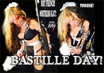 """THE GREAT KAT'S """"TOP 20 HOT SHRED HOLIDAYS!"""" BASTILLE DAY! From The Great Kat's NEW DVD!!!"""