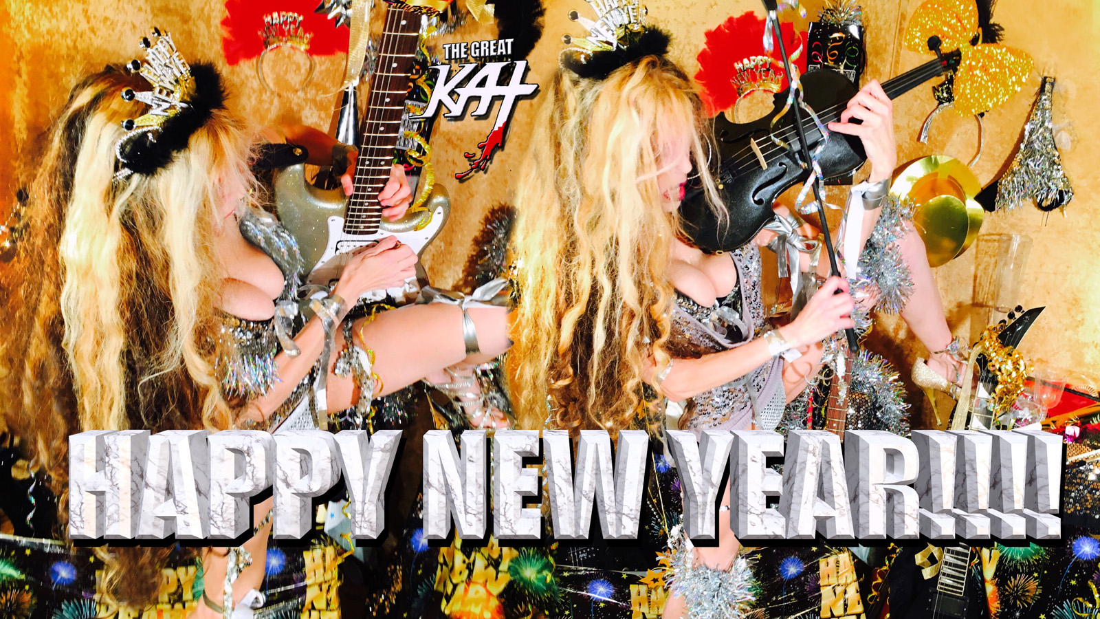 "THE GREAT KAT'S ""TOP 20 HOT SHRED HOLIDAYS!"" HAPPY NEW YEAR!!!!"" From The Great Kat's NEW DVD!!!!"