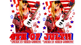 """THE GREAT KAT'S """"TOP 20 HOT SHRED HOLIDAYS!"""" """"4th of JULY!!"""" From The Great Kat's NEW DVD!!!!"""