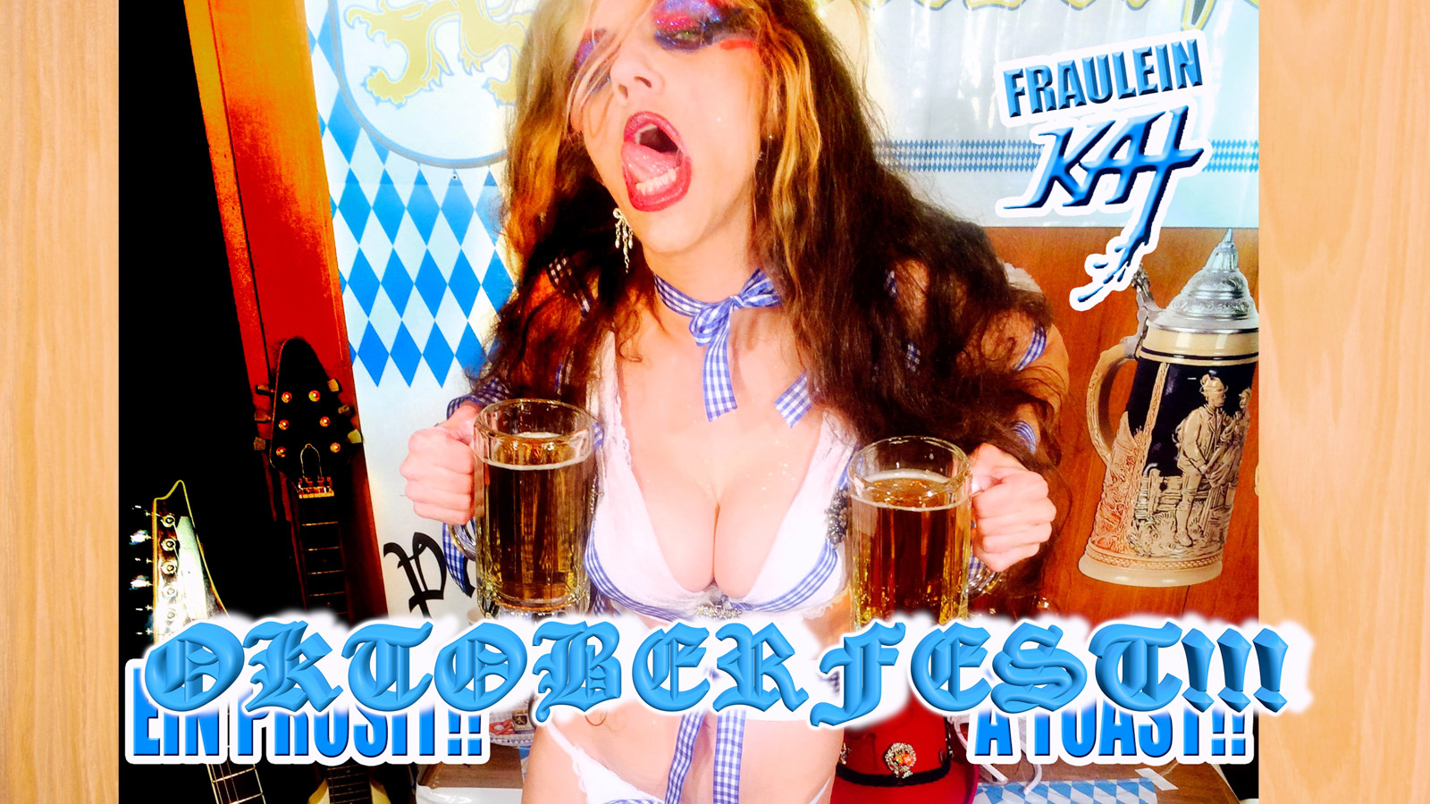 """THE GREAT KAT'S """"TOP 20 HOT SHRED HOLIDAYS!"""" """"OKTOBERFEST!!"""" From The Great Kat's NEW DVD!!!!"""