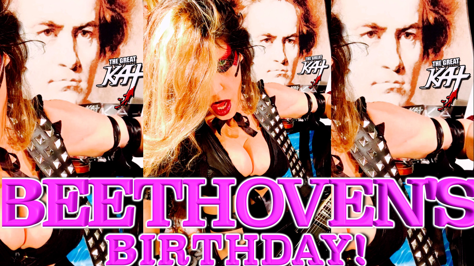 "THE GREAT KAT'S ""TOP 20 HOT SHRED HOLIDAYS!"" ""BEETHOVEN'S BIRTHDAY!"" From The Great Kat's NEW DVD!!!!"