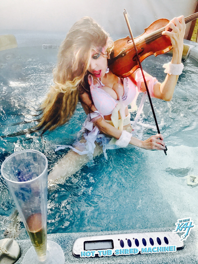 "The Great Kat VIOLIN GODDESS SHREDS SARASATE'S ""CARMEN FANTASY"""