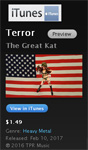 """""""TERROR"""" NEW MUSIC VIDEO About 9/11 From THE GREAT KAT - PREMIERE on iTUNES! https://itunes.apple.com/us/music-video/terror/id1209632433"""