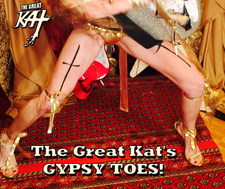 """The Great Kat's GYPSY TOES! From The Great Kat's LISZT'S """"HUNGARIAN RHAPSODY #2"""" MUSIC VIDEO!!!!"""