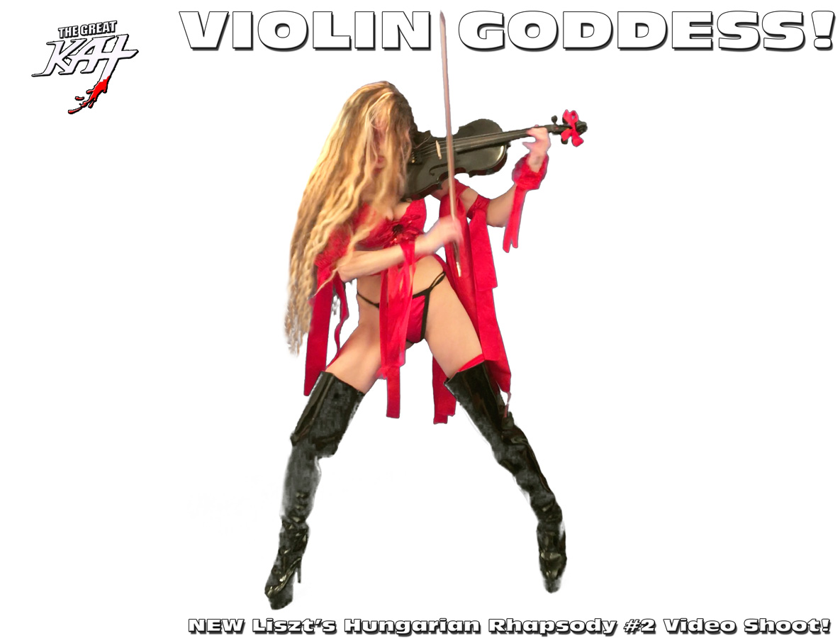 VIOLIN GODDESS! From NEW Liszt's Hungarian Rhapsody #2 Video Shoot! SNEAK PEEK from NEW DVD